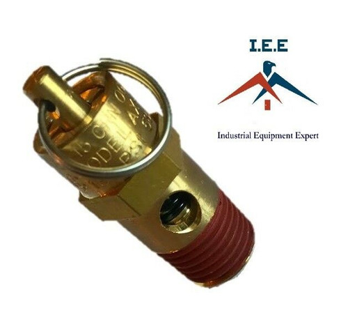 "1/4"" NPT 250 PSI Air Compressor Safety Relief Pressure Valve, Tank Pop Off 2pc"