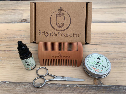 Bright and Beardiful's Gift Set 3, perfect beard gift for fathers day, birthdays, Christmas etc