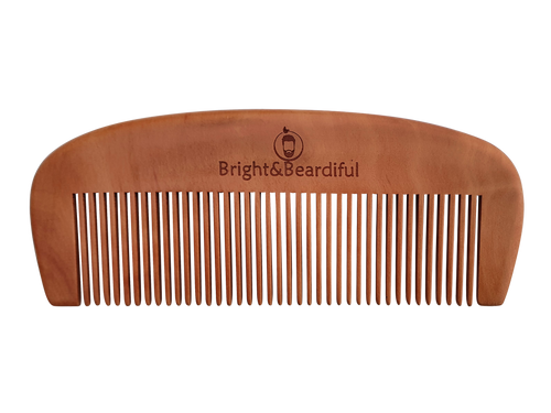 Bright and Beardiful branded 14cm wooden antistatic comb with coarse teeth