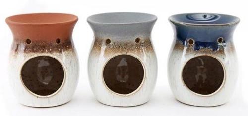 Mottled Wax Melt Burner with Colourful Glaze
