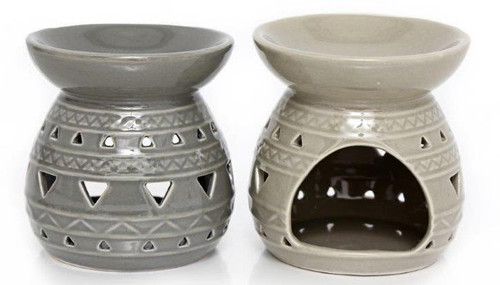 Grey Aztec Wax Melters only £9.90