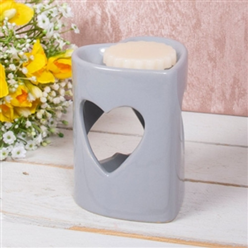 Heart Shaped Wax Melt Burner with Heart Cut Outs