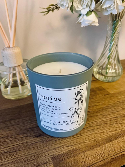 Birth Flower Candle - Perfect Personalised Candle for Birthday Gift