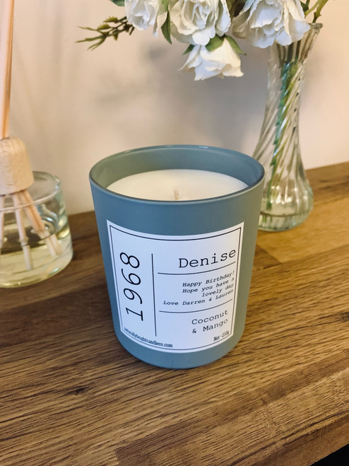 Birth Year Personalised Candle Gift for Birthday
