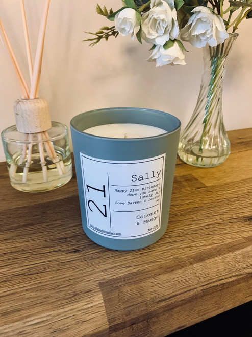 21st Birthday Gift - Personalised Candle
