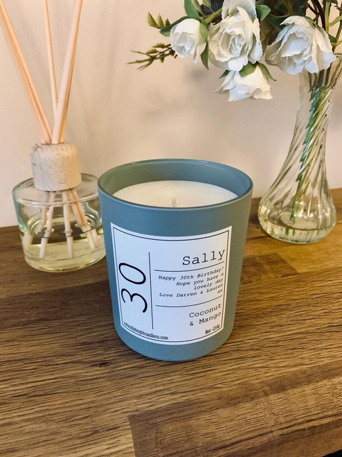 30th Birthday Gift - Personalised Candle