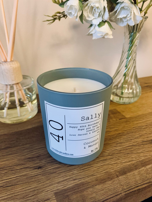 40th Birthday Gift - Personalised Candle