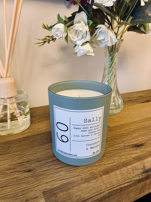60th Birthday Gift - Personalised Candle