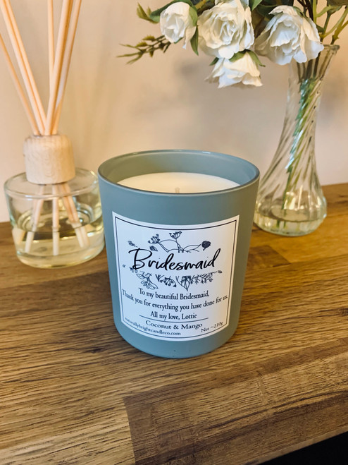 Bridesmaid Thank you Gift - Personalised Candle
