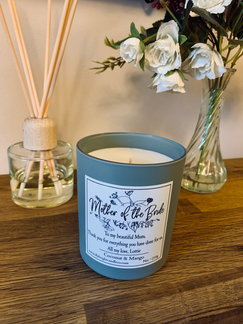 Mother of The Bride Thank you Gift - Personalised Candle