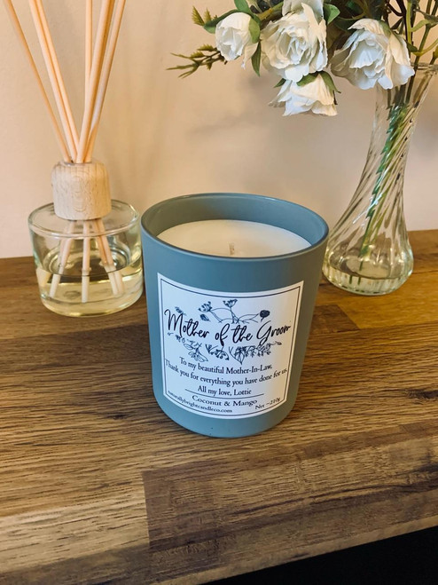 Mother of The Groom Thank you Gift - Personalised Candle