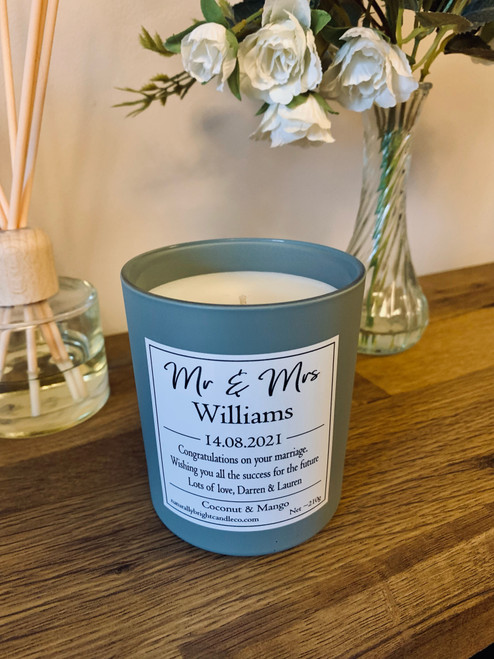 Personalised Wedding Gift Candle by Naturally Bright Candle Co