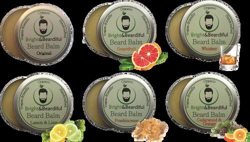 Bright and Beardiful's Beard Balms SIX Pack