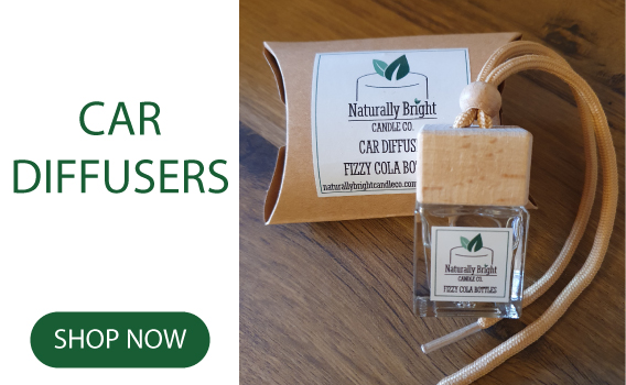 Naturally Bright Candle Co Car Diffusers