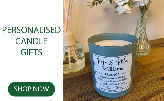 Personalised Candles make the perfect gift for all occassions.
