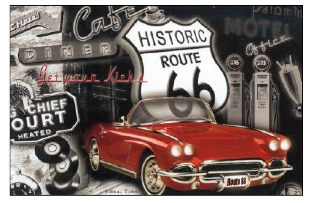Route 66 US New Mexico Vintage Car Decal Sticker