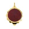 Gold Plated SOS Talisman Pendant - Burgundy - Coloured