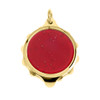 Gold Plated SOS Talisman Pendant - Sparkle Red - Coloured