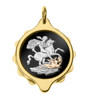 Gold Plated SOS Talisman Pendant - St George - Coloured