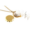 Gold Plated SOS Talisman Pendant - Shamrock - Coloured