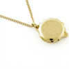 Gold Plated SOS Talisman Pendant - 3 Leopards Red - Coloured