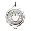 Chrome Plated SOS Talisman Pendant - Zodiac Cancer
