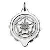 Chrome Plated SOS Talisman Pendant - Tudor Rose