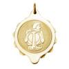 Gold Plated SOS Talisman Pendant - Zodiac Aquarius