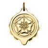 Gold Plated SOS Talisman Pendant - Tudor Rose