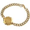 Gold Plated SOS Talisman Bracelet - St John / Malta Cross
