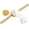 Gold Plated SOS Talisman Bracelet - Snake & Staff