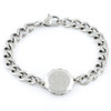 Stainless Steel SOS Talisman Bracelet - Tudor Rose