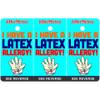I Have A Latex Allergy Bag Tag / Key Fob
