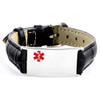 16mm Leather Bracelet With Stainless Steel Tag