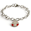 Red Medical Charm with Chain Bracelet