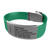 Medical Bracelet with Clasp
