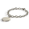 Stainless Steel Chain Bracelet with Gold Medical Symbol