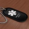 Black Medical Dog Tag - Filled