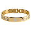 Stainless Steel Striped Bracelet