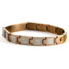 10mm Two Tone Bronze Stainless Steel Engraveable Bracelet