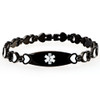 The Black Infused Heart Medcial ID Bracelet