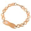 The Rose Gold Titanium Infinity Bracelet