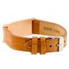 Brown Camo Leather Crocodile Strap