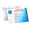 Diabetes Medical Identity Card
