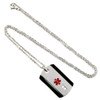 Stainless Steel Diamante Dog Tag