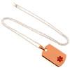 Bronze Dog Tag Engraveable Pendant