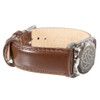 Stainless Steel SOS Talisman Watch Style Nappa Polished Leather Strap - 18mm