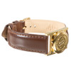 Extra Long Gold Plated SOS Talisman Watch Style Nappa Strap - 18mm