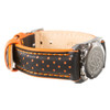 Stainless Steel SOS Talisman Watch Style Colour Detail Leather Strap - 18mm
