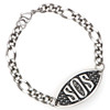 SOS Engraveable Bracelet with Curb Chain